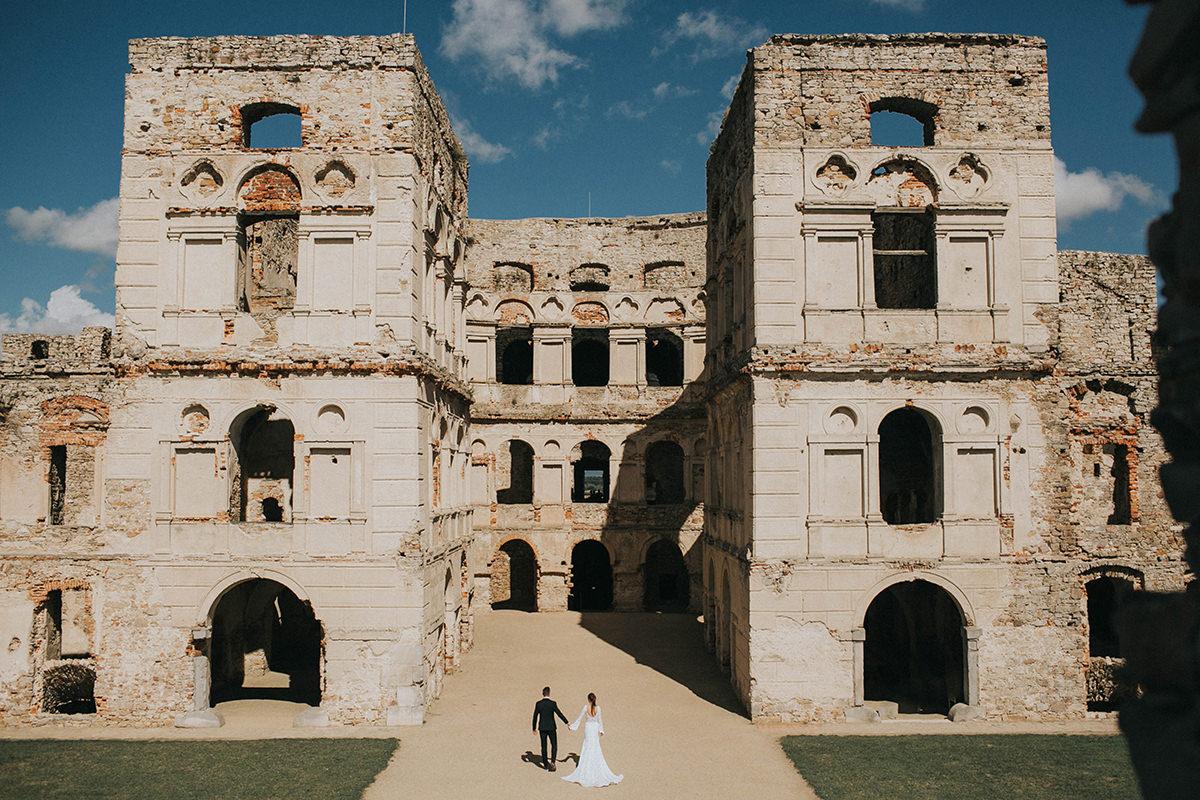 K + M = Eleganckie wesele & Sesja ślubna na Zamku